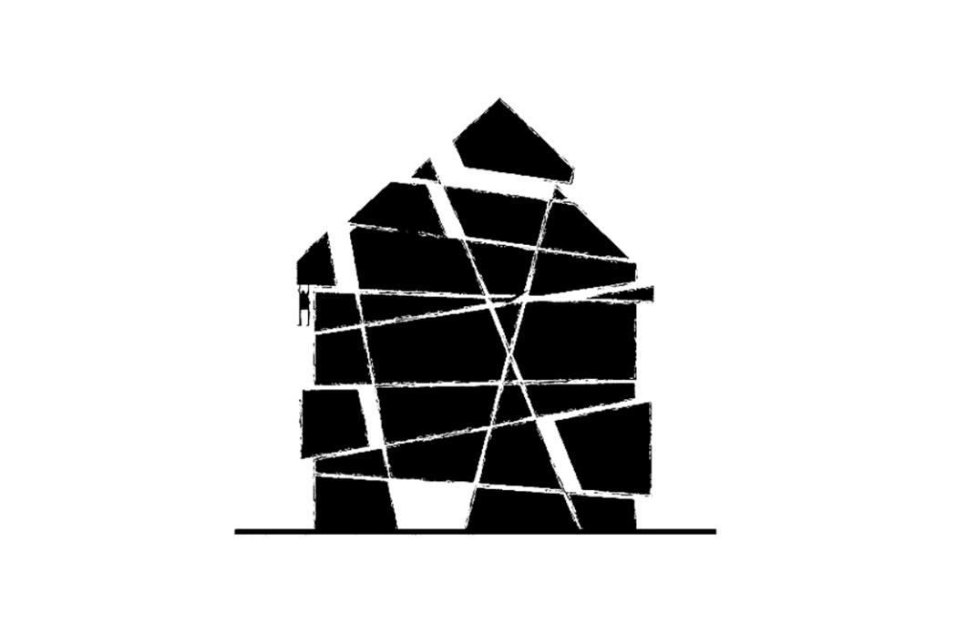 casa scomposta frammenti